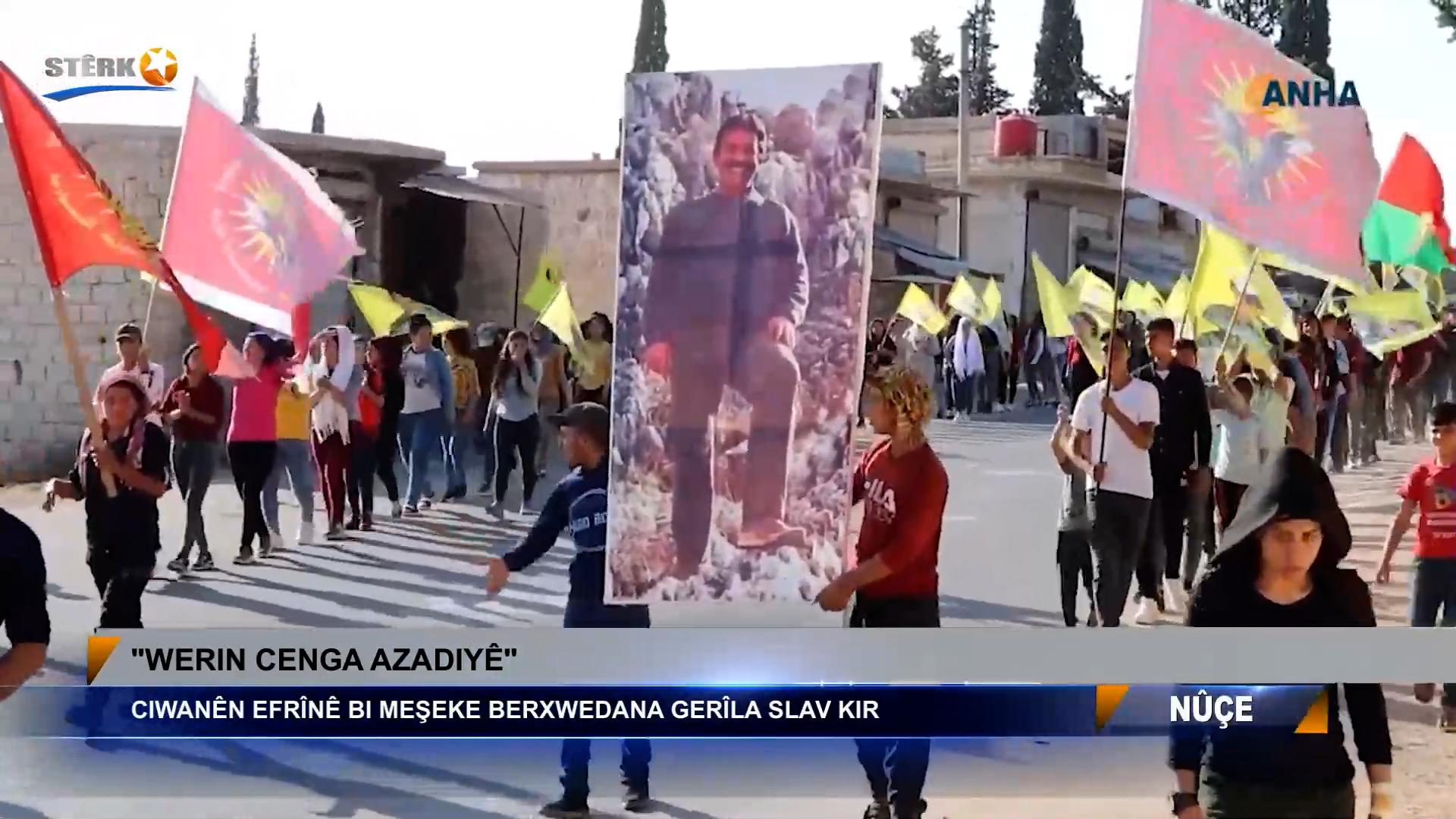 Ciwanên Efrînê bi meşeke berxwedana gerîla silav kir
